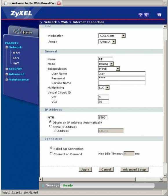 Кратос: дополнительная настройка модема zyxel p660ru2 ee.